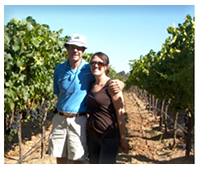 ted & liz in the pinot vines