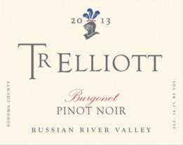 TR Elliott 2013 Burgonet Pinot Noir